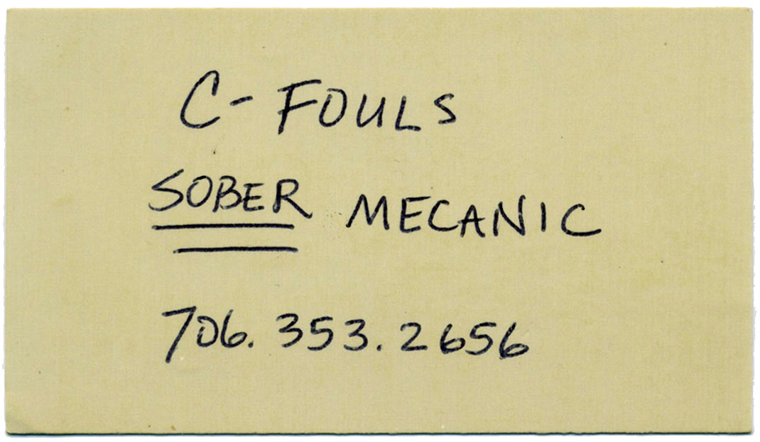 c-fouls: sober mechanic. 706-353-2656